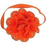 DDLBiz® 10 pezzi Neonata della fascia dell'involucro della testa morbida Turbante della fascia dei capelli puntelli pro foto (rosa)