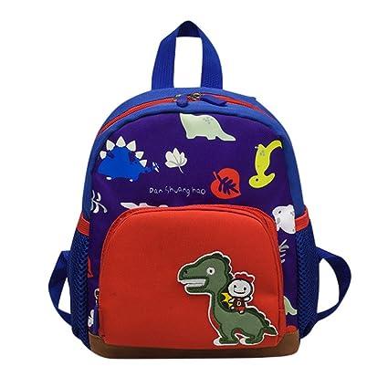 ALIKEEY Bebe Niños Niñas Niños Dinosaurio Patrón De Dibujos Animados Niño Bolsa Mochila Mochilas Escolares Tous