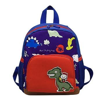 ALIKEEY Bebe Niños Niñas Niños Dinosaurio Patrón De Dibujos Animados Niño Bolsa Mochila Mochilas Escolares Tous Mano Bandolera Fiesta Playa Bimba: ...