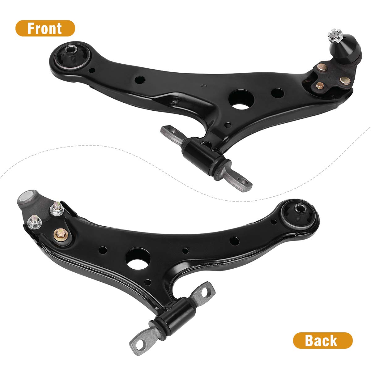 2001-2012 Toyota Avalon Camry Highlander Solara Front Lower Control Arm w//Ball Joint Assembly for 2002-2011 Lexus ES300 ES330 ES350 RX330 RX350 RX400h