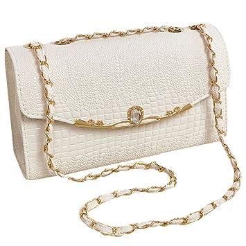 c29808aa62 Amazon.com: Sun Kea Women's Faux Leather Shoulder Bag Small Gold Chain  Quilted Cross Body Handbag Clutch Vintage Evening Bag: Sun Kea