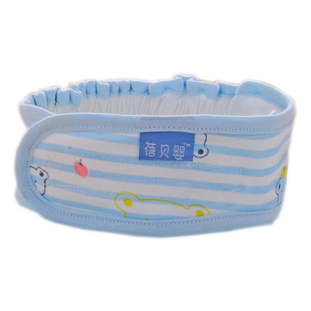 3Pcs Blue Stripe Newborn Baby Diaper Fasteners Comfortable Cotton Nappy Fixed Belt by PANDA SUPERSTORE