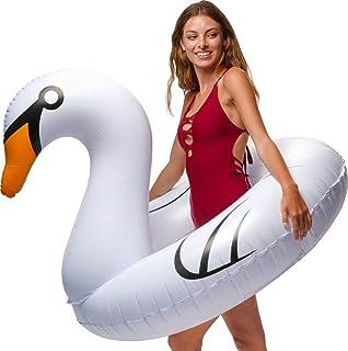 Amazon.com: Flotador inflable para alberca de cisne blanco ...