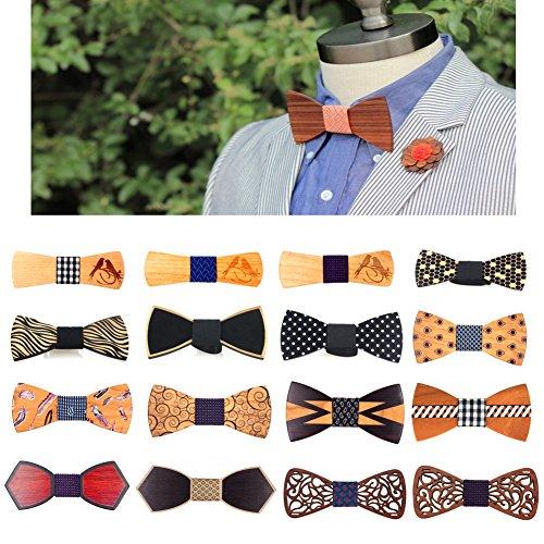 Bow Gifts Wooden Wedding Meijunter Christmas Fashion Wood 43b 43a Men's bowtie WT Party Tie Men's WT OEE0twq