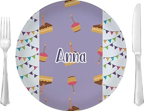 Amazon.com: Feliz cumpleaños plato llano (personalizado ...