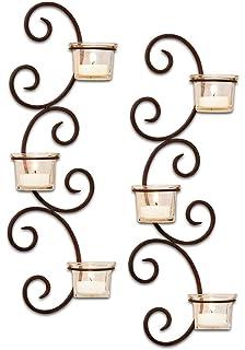 Amazon wall sconces candle holder w glass pillar lantern iron elk lighting classic wall sconce candle holder set of 2 aloadofball Choice Image