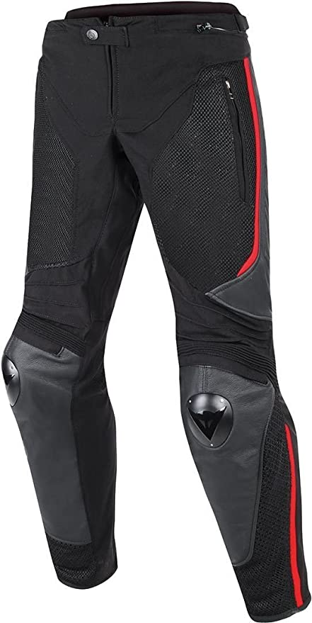 Amazon.com: Dainese MIG leather-textile pantalones negro ...