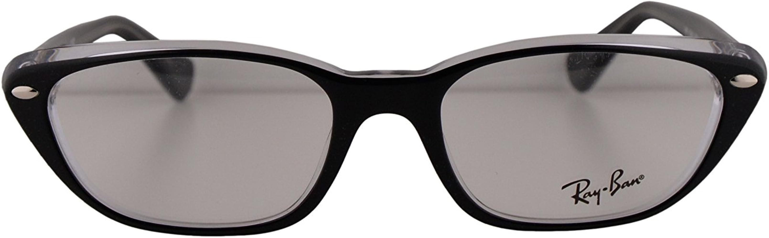 Ray-Ban RB 5242 Gafas 53-18-140 Negras Transparentes Con Lentes De Muestra 2034 RX RX5242 RB5242: Amazon.es: Ropa y accesorios