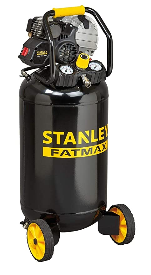 Stanley - Modelo HY227/10/50V - Compresor de aire vertical, lubricado,