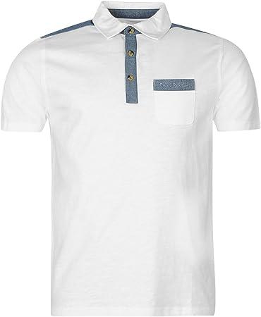 Pierre Cardin Jersey Tela Vaquera polo camiseta para hombre camiseta blanca Top Tee