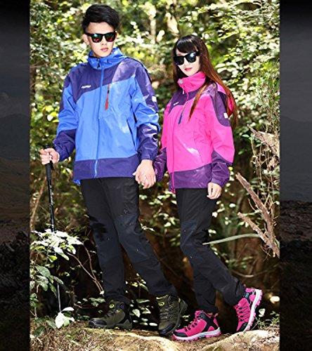 Zapatos corrientes alta e Zapatos al para de mujeres deportivo libre cuero gimnasia de Huaihsu Púrpura entrenamiento Otoño Nuevos entrenadores Viaje aire invierno Senderismo gama de de EnUFw