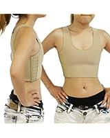 ナベシャツ ハーフタンクトップ型 3段フック調整機能 コスチューム 肌色 Lサイズ