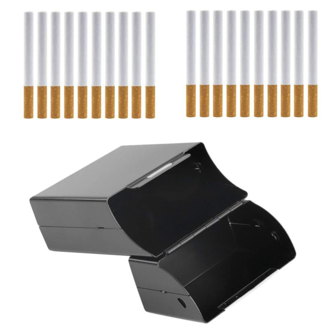 LouiseEvel215 Caja de Cigarrillos de Aluminio port/átil Estuche de Almacenamiento Duradero Ultra Fino para cigarros Accesorios de Cigarrillos Profesionales