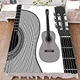 iPrint Bed Skirt Cover 3D Print,Acoustic Classical Instruments Folk Country,Fashion Personality Customization adds Color to Your Bedroom. by 70.9''x94.5''
