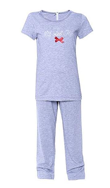 Louis & Louisa Pijama dos piezas – para niña gris 104 ...