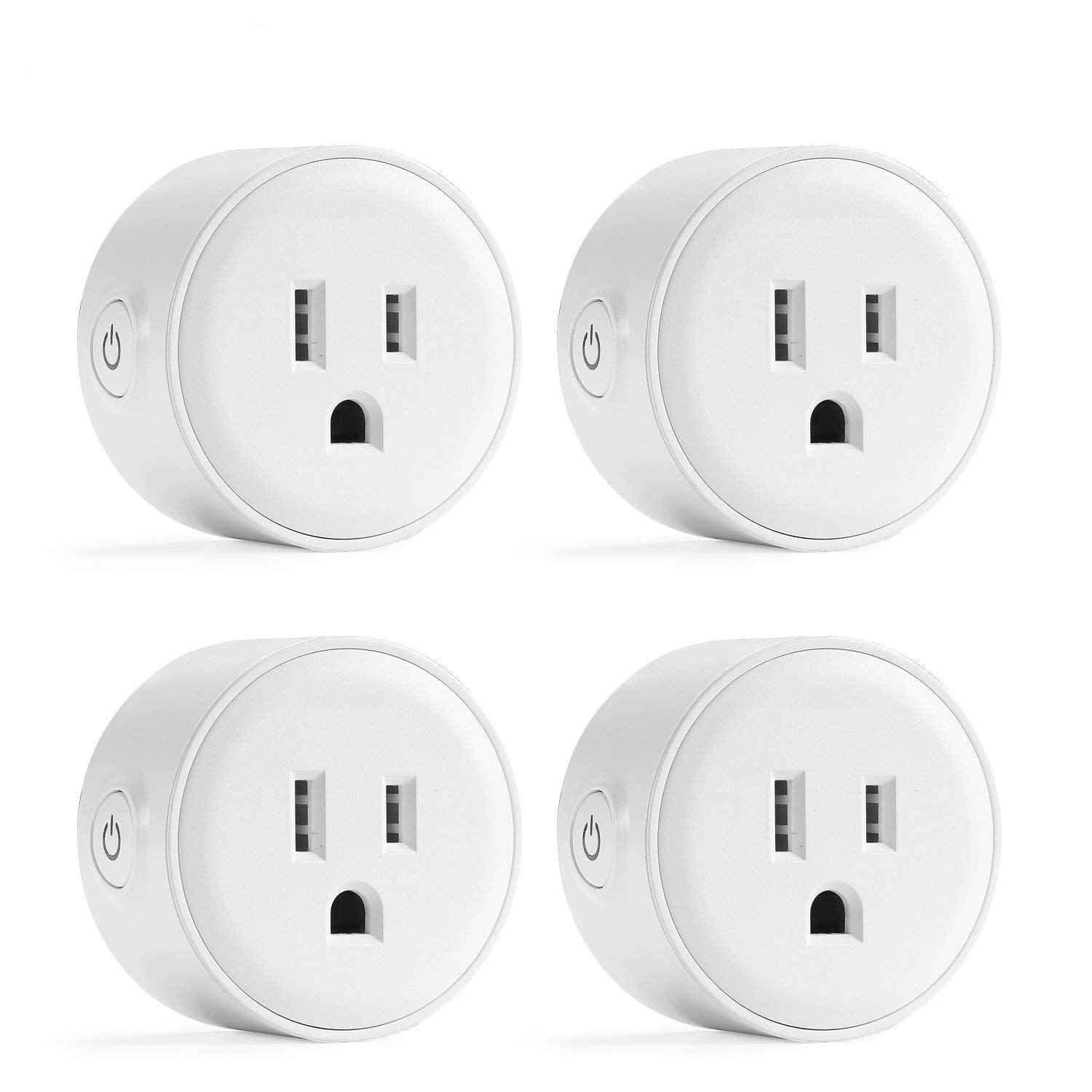 Wifi Smart Plug Mini, Astrodot Smart Home Power Control Socket, Remote Control Your Household Equipment from Everywhere, No Hub Required, Compatible with Alexa, Echo Dot & Google Home (4)