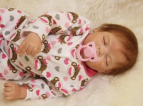 Amazon.es: NPK Simulación 22pulgadas 55 cm Bebé Reborn Muñeca Ojos ...