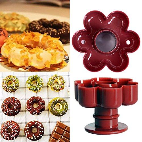 Faxiang - Molde para hacer donas de flores, para pasteles, pan ...