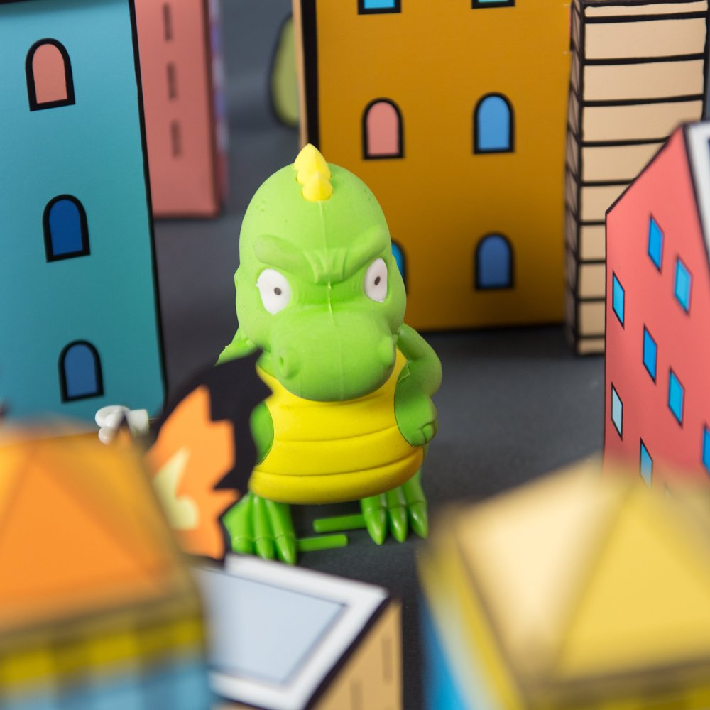 Office Products Cube Erasers SUCK UK Dinosaur Walking Eraser ...