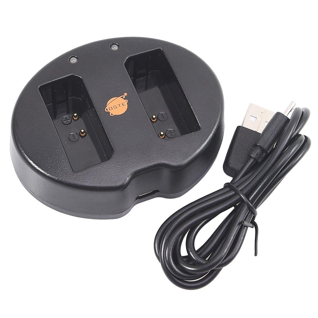 Cargador de Bater/ía USB Compatible con Canon LP-E10 EOS 1100D 1200D Kiss X50 X70 X80 Rebel T3 T5 DSTE 2pcs Bater/ía