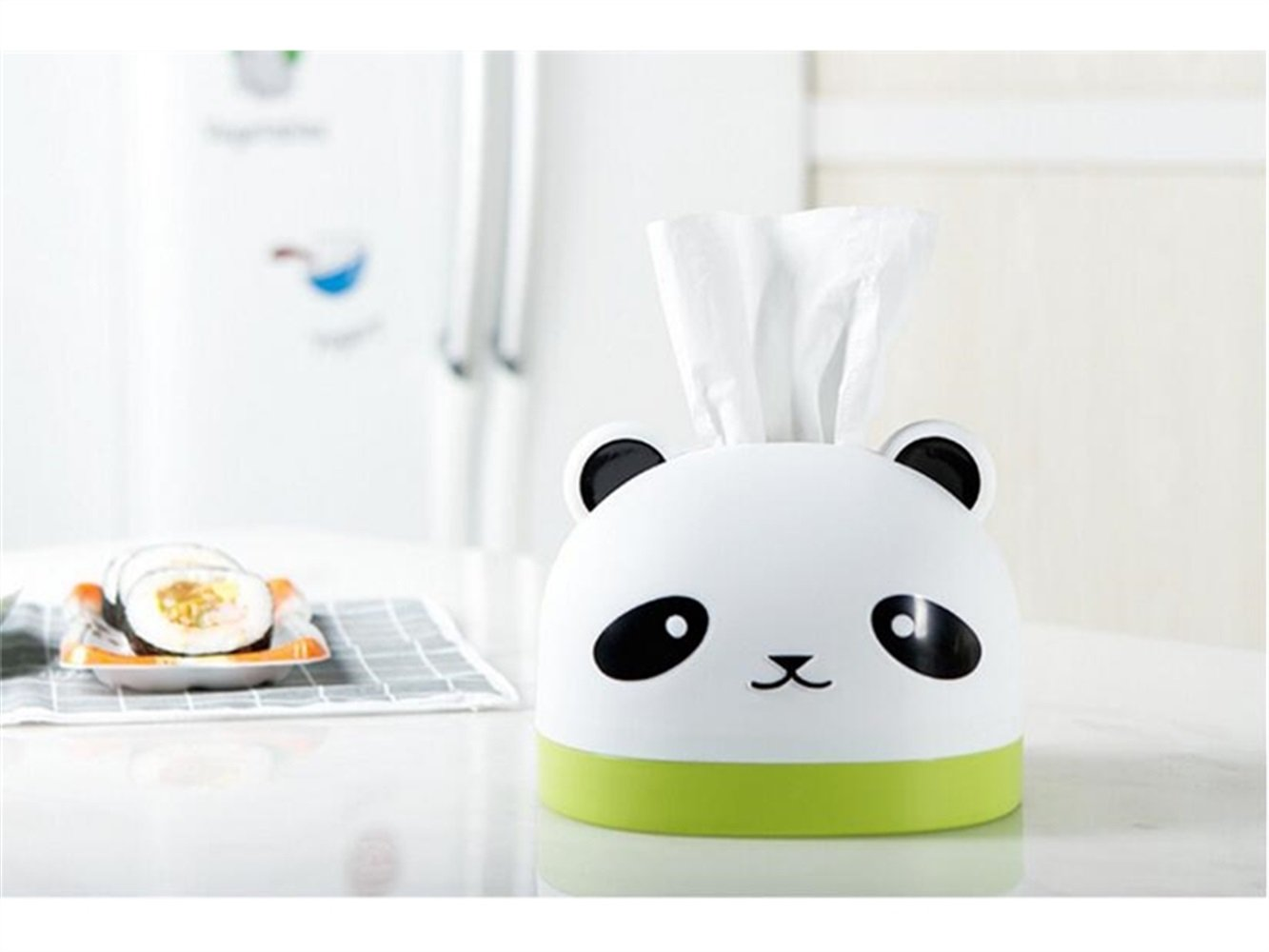 Yuchoi Perfectly Shaped Cute Panda Tissue Box Animal Paper Box Restaurant and Living Room Plastic Paper Towel Box
