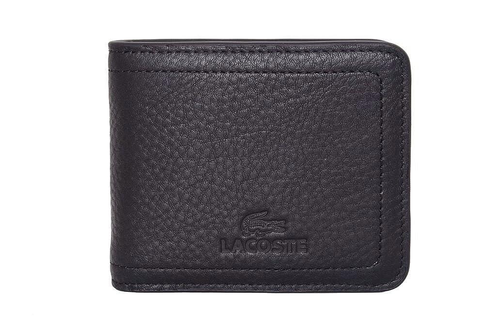 eab26422d Billetera Lacoste de cuero color negro con monedero para hombre: Amazon.es:  Zapatos y complementos