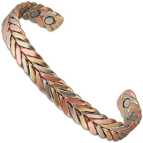 Magnétique Guérison Thérapie Cuivre Bracelet Manchette Tibétain soulagement douleur Bracelet Hot