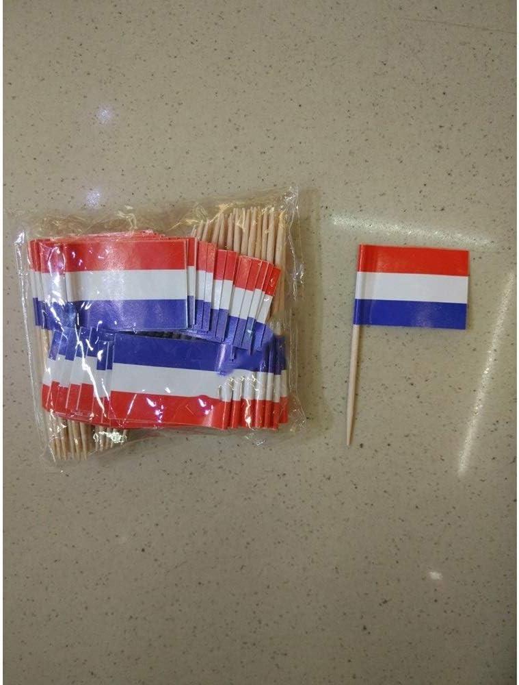 Niederlande Essen Picks Kuchen Zahnstocher Wgd 50Pcs Holland Toothpick Flaggen Kuchen Fruit Cocktail Sticks Dekoration Zahnstocher Flagge