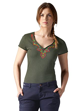 BOGNER FIRE + ICE Camiseta Maiken Verde Oliva Talla:M (Izquierda ...