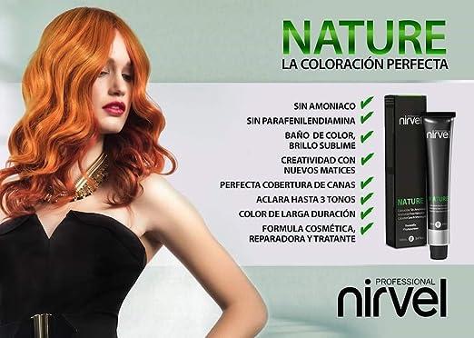 nirvel Nature color del pelo natural 7/0 – 100 ml sin amoniaco ...