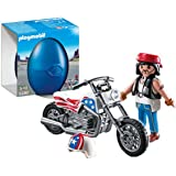 PLAYMOBIL Biker Motorcycle with Playset