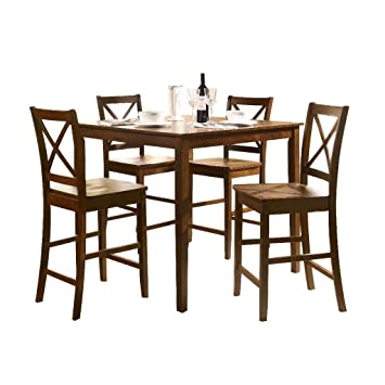 Tremendous Acme 0 5 Piece Martha Counter Height Dining Set Espresso Finish Squirreltailoven Fun Painted Chair Ideas Images Squirreltailovenorg
