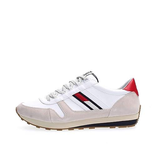 TOMMY HILFIGER EM0EM00165 Retro Runner Zapatillas DE Deporte Hombre: Amazon.es: Zapatos y complementos