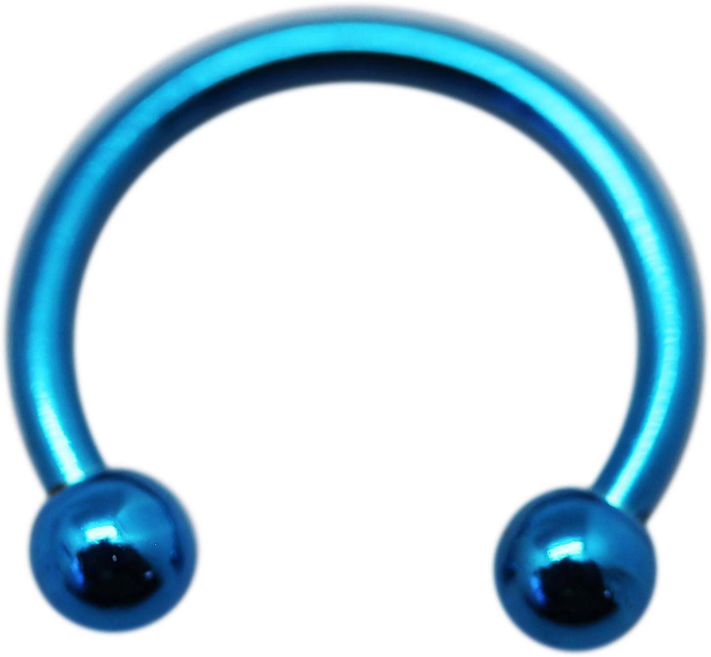 Amazon Com Cobalt Blue Horseshoe Septum Ring 1 Mm 18 Gauge 1 Piece Toys Games