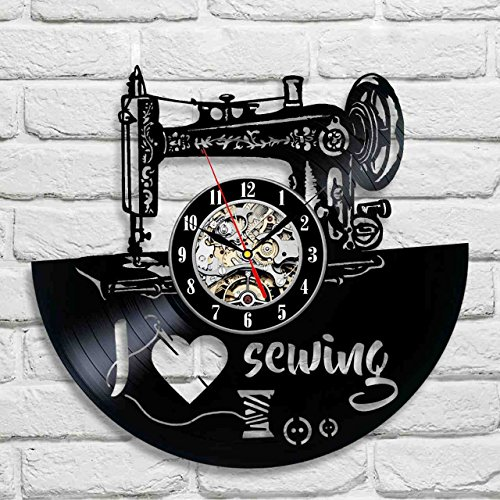 I love sewing Decorative Vinyl Record Wall Clock Gift To Your Friends And Family For Any Occasion