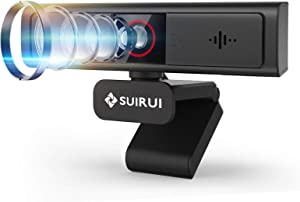 1080p Webcam with Microphone, USB Plug and Play Computer Camera with Privacy Cover, 90-Degree Wide Angle, for Laptop/Desktop, for Streaming Online Meeting/Class, for Zoom/Skype/Facetime