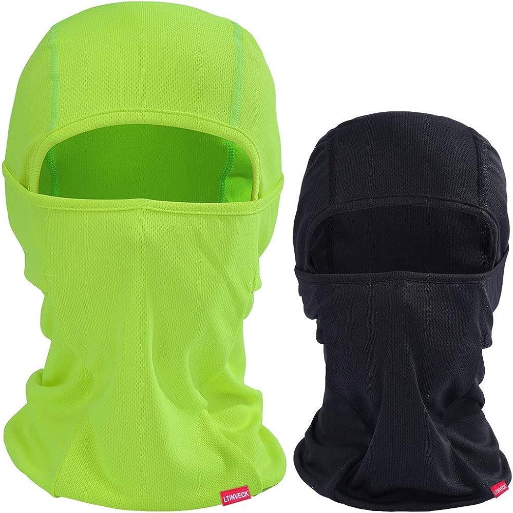 Balaclava Face Mask Men Summer,2 Pack Black Lightweight UV Protection Ski Mask