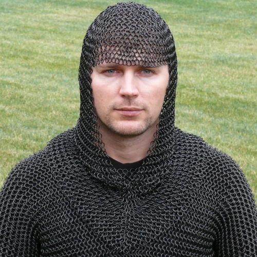 Nasir Ali Chain Mail Coif Black Chainmail Hood Knight Armor Reenactment Costume Larp (Costume Medievale Ebay)
