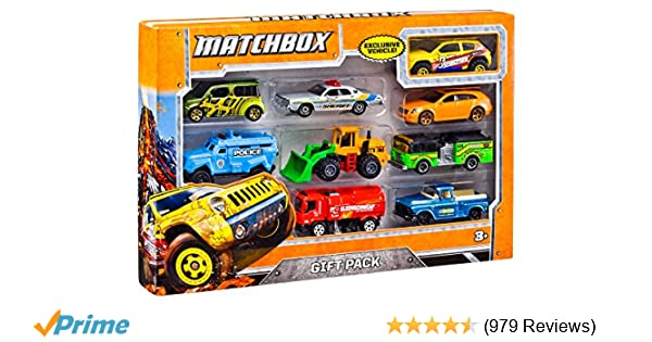 Amazon.com: Matchbox 9 Car Gift Pack (Styles May Vary): Mattel: Toys U0026 Games