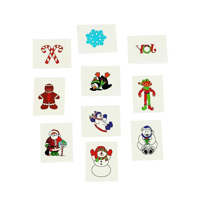 Children/'s Christmas Autocollant et tatouages temporaires multiple
