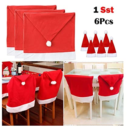 Christmas Decorations & Trees Party Christmas Decoration Table Hat Decor Dinner Chair Cover Xmas Cap Sets NEW