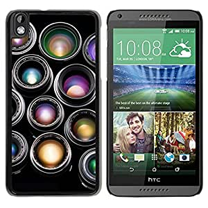 Camera Lenses Black New Customized Design HTC Desire 816 Case