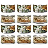 Taste of the Wild Cat Food Variety Pack Box - 2 Flavors (Rocky Mountain Feline with Salmon and Roasted Venison Formula & Canyon River Feline Trout and Salmon Formula) - 3 oz Each (12 of Each Flavor)