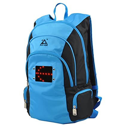 4baebe4d46aa AK-BAG Hiking Backpack Camping Knapsack With LED Warning  Light Multifunction Shoulder Bag