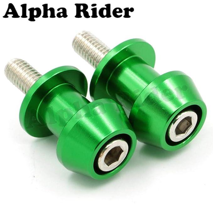 Alpha Rider 8MM CNC Billet Swing Arm Spools Sliders Stand Screws for Suzuki SV1000 S 2003-2007 Blue