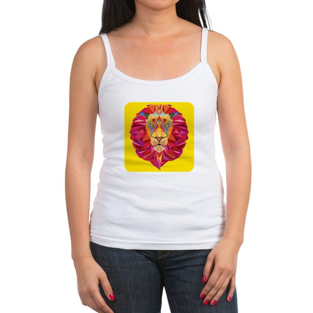 Royal Lion Jr Spaghetti Tank Geometric Lion King of The Jungle