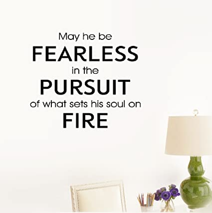 Amazoncom Etheb Wall Sticker Quote May He Be Fearless In The