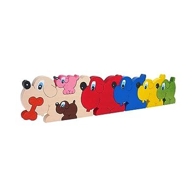 ABA 31 x 8 x 1,2 cm, diseño de Perro Puzzle (Tamaño Grande): Juguetes y juegos