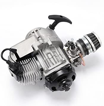 2 Stroke Engine Motor Air Filter with Gear Box for 49cc Mini Pocket Bike Gas G-Scooter ATV Quad Bicycle Dirt Pit Bikes