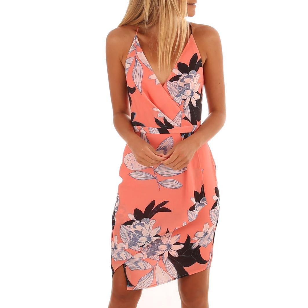 HCFKJ 2018 Mode Damen Frauen O-Ansatz beiläufige Taschen-Sleeveless über Knie-Kleid-Lose Partei-Kleid
